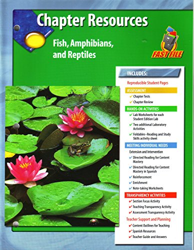 9780078671043: Glencoe Science, Chapter Resources, Fish, Amphibians, and Reptiles
