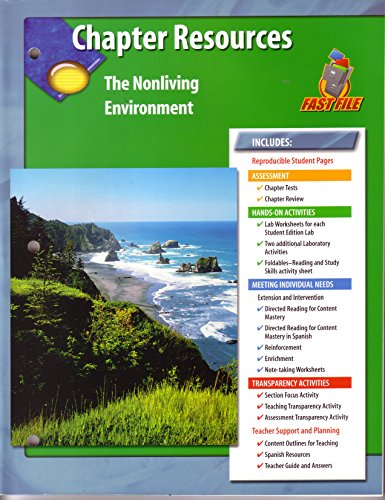 Glencoe Science Chapter Resources The Nonliving Environment (Fast File)