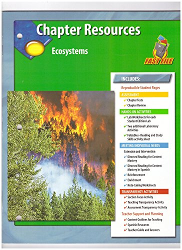 9780078671166: Chapter Resources, Ecosystems