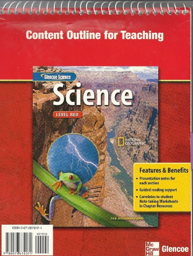 9780078672071: Glencoe Science Level Red: Content Outline for Teaching