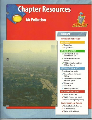 9780078672897: Air Pollution Chapter Resources Glencoe Science Fast File