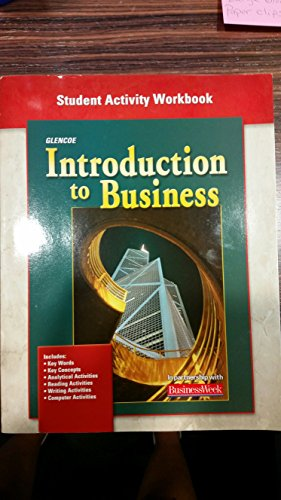 9780078673337: Introduction to Business: Student Activity Workbook, Chapter 1-35