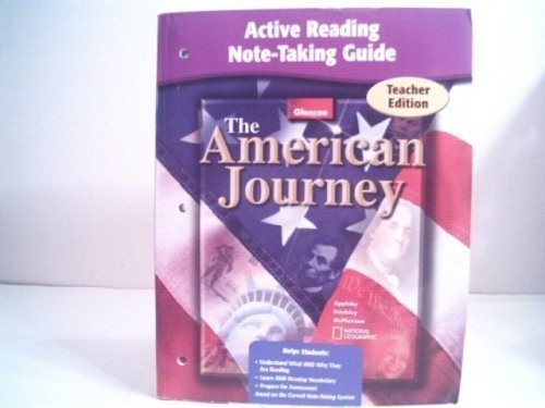 9780078673986: The American Journey Active Reading Note-taking Guide - Teacher's Edition