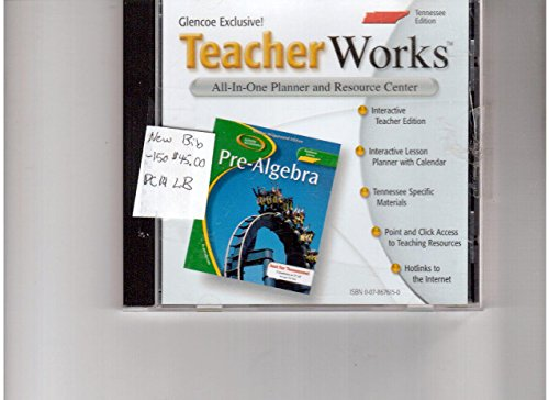 9780078676154: Glencoe Teacher Works TN Edition CD-ROM (Glencoe Mathematics Pre-Algebra All-In-One Planner and Resource Center)