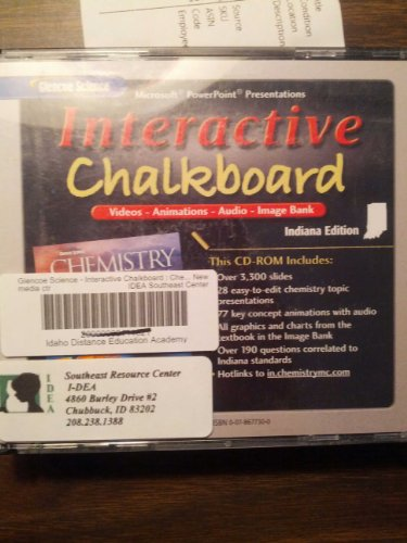 9780078677397: Interactive Chalkboard for Glencoe Chemistry: Matter and Change