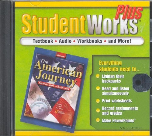 9780078678035: The American Journey, Reconstruction to the Present, StudentWorks Plus CD-ROM