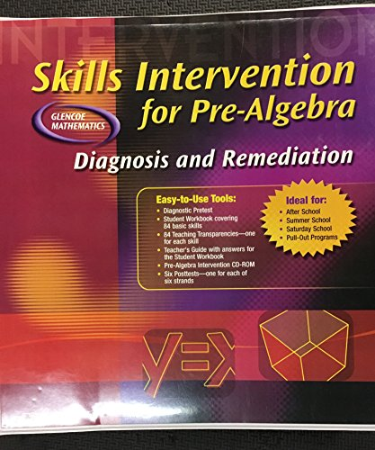 9780078678103: Skills Intervention for Pre-Algebra: Diagnosis and Remediation (Glencoe Mathematics Pre-Algebra)