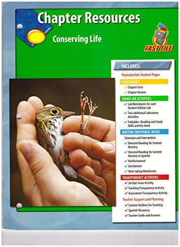 9780078678288: Chapter Resources Conserving Life (Glencoe Science Fast File)