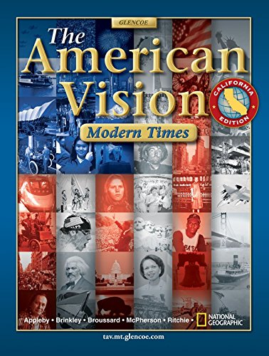 9780078678516: The American Vision California Edition: Modern Times