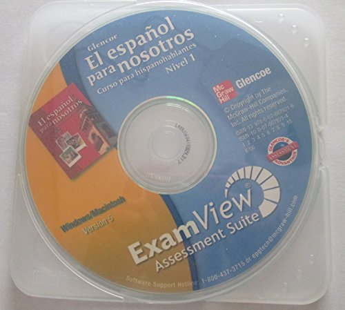 9780078679216: Glencoe El Espanol para Nosotros Nivel 1 ExamView Pro Testmaker Assessment Suite CD-ROM Windows/Macintosh Version 5
