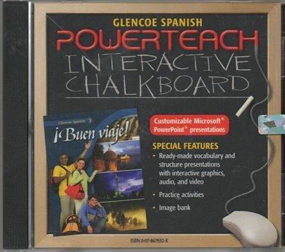 9780078679322: Glencoe Spanish Buen Viaje! Level 3: Powerteach Interactive Chalkboard Cd-rom (Spanish Edition)
