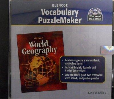 9780078679919: Vocabulary PuzzleMaker CD-ROM for Glencoe