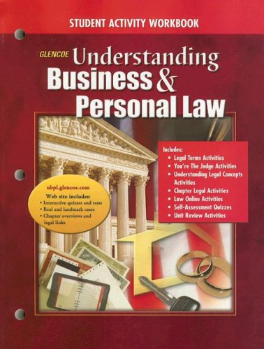 9780078681059: Glencoe Understanding Business & Personal Law: Student Activity Workbook