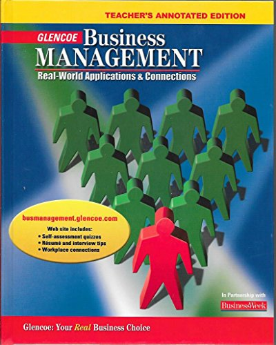9780078681066: Business Management: Real World Applications and Connections: Teachers Annotated Edition