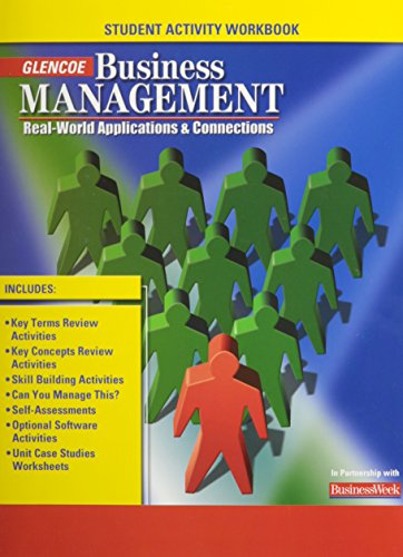9780078681073: Business Management: Real-World Applications and Connections, Student Activity Workbook