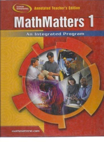 9780078681752: MathMatters 1 Annotated Teacher's Edition (Glencoe Mathematics)