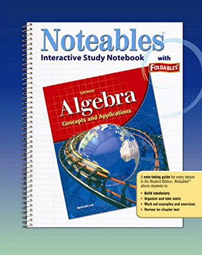 9780078682117: Algebra: Concepts and Applications, Noteables: Interactive Study Notebook with Foldables (Glencoe Mathematics)