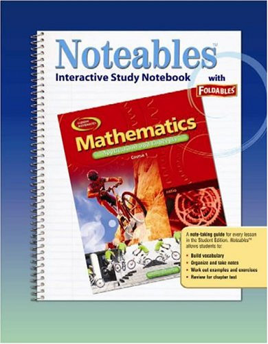 9780078682148: Mathematics: Applications and Concepts, Course 1, Noteables: Interactive Study Notebook with Foldables