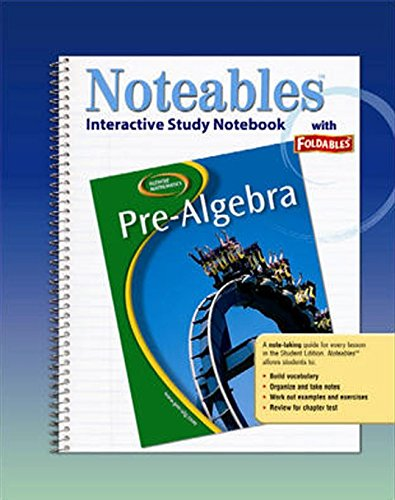 Glencoe Pre-Algebra, Noteables: Interactive Study Notebook with Foldables (MERRILL PRE-ALGEBRA): ...