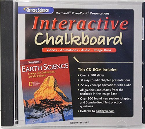 9780078683299: Interactive Chalkboard CD-ROM for Glencoe Earth Science: Geology, the Environment and the Universe