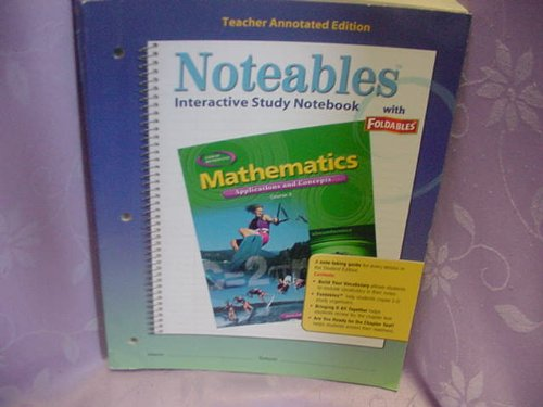 9780078684319: Teacher's Annotated Edition (Noteables : Mathematics Applications and Concepts Course 3)