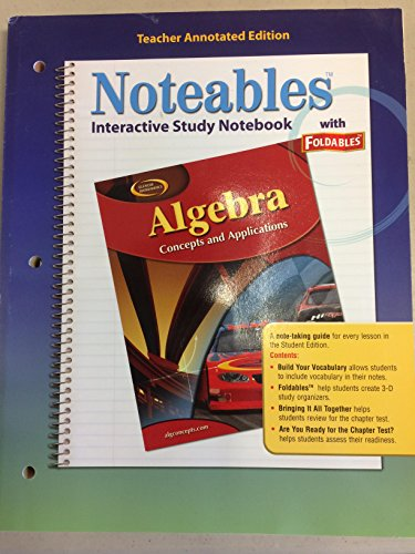 9780078684852: Noteables: Interactive Study Notebook with Foldables, Teacher Edition