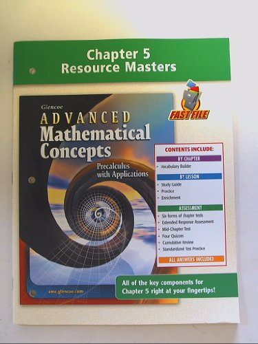 9780078691324: Chapter 5 Resource Masters: Advanced Mathematical Concepts Precalculus With Application