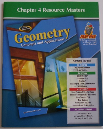 9780078692703: Chapter 4 Resource Masters for Geometry Concepts and Applications Glencoe (Glencoe Geometry Concepts and Applications)