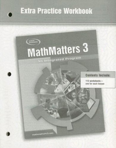 9780078693069: MathMatters 3: An Integrated Program, Extra Practice Workbook