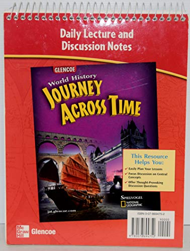 9780078694752: Glencoe World History, Journey Across Time: Daily Lecture and Discussion Notes