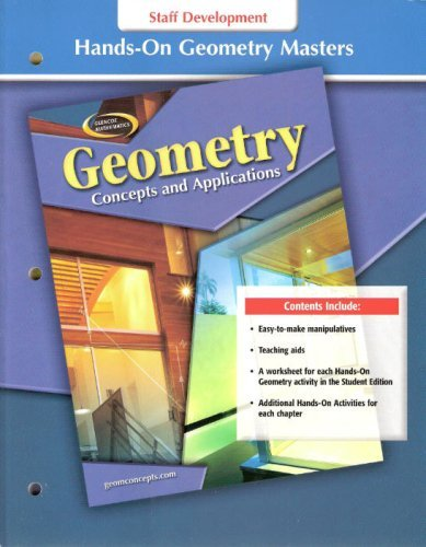 9780078696206: Glencoe Mathematics - Geometry: Concepts and Applications - Hands-On Geometry Masters