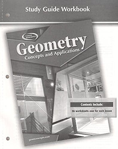 9780078696237: Geometry: Concepts and Applications, Study Guide Workbook