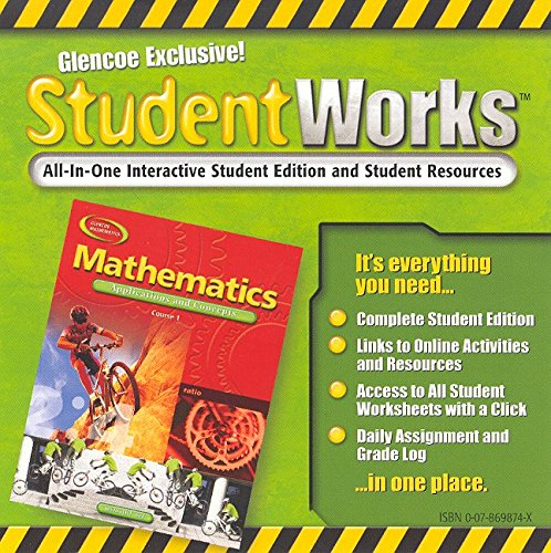9780078698743: Mathematics: Applications and Concepts, Course 1, StudentWorks CD-ROM (MATH APPLIC & CONN CRSE)
