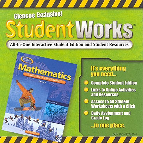 9780078698804: Mathematics: Applications and Concepts, Course 2, StudentWorks CD-ROM