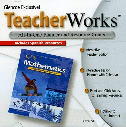 9780078699191: Glencoe Exclusive Teacher Works: All-In-One Planner and Resource Center, Mathematics: Applications and Concepts Course 2