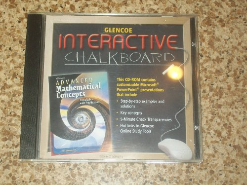 9780078699979: Glencoe Interactive Chalkboard Advanced Mathematical Concepts Precalculus with Applications