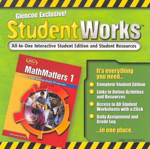 9780078699986: MathMatters 1: An Integrated Program, StudentWorks CD-ROM (NTC: MATH MATTERS)