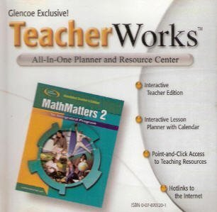 9780078701207: Glencoe Mathematics - MathMatters 2: An Integrated Program - TeacherWorks (All-In-One Planner and Resource Center)