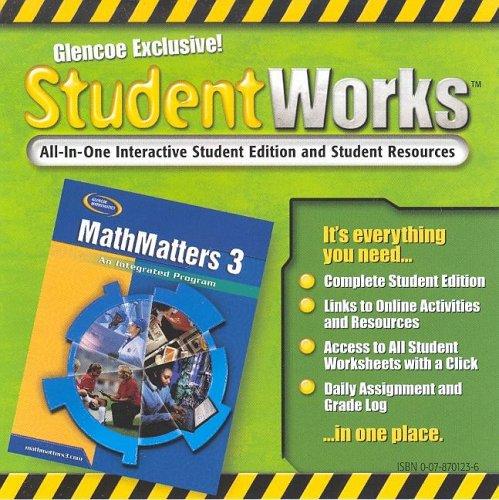 9780078701238: MathMatters 3: An Integrated Program, StudentWorks CD-ROM