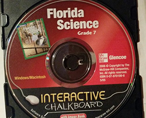 9780078701993: Glencoe Science Grade 7 Florida Science Interactive Chalkboard CD-Rom