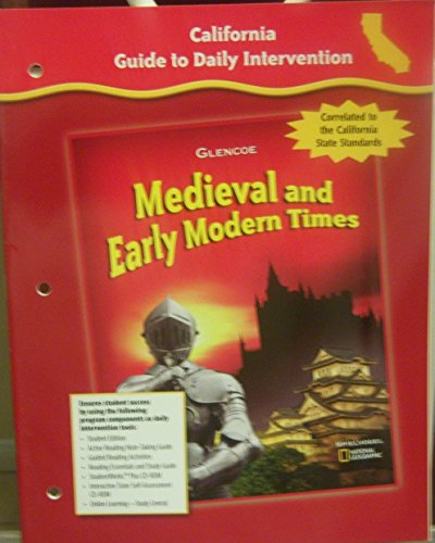 9780078702518: California Guide to Daily Intervention (Medieval and Early Modern Times)