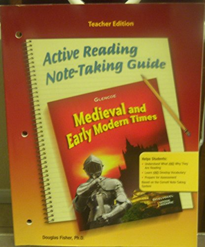 9780078702655: Glencoe Discovering Our Past - Medieval and Early Modern Times, Grade 7 - Ca Teacher Edition: Active Reading Note-taking Guide