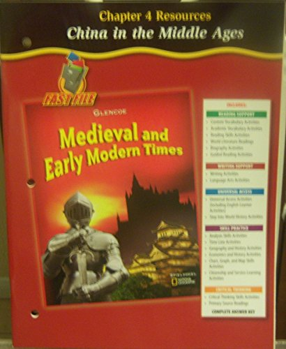 China in the Middle Ages (Medieval and Early Modern Times, Chapter 4 Resources): Glencoe/McGraw ...