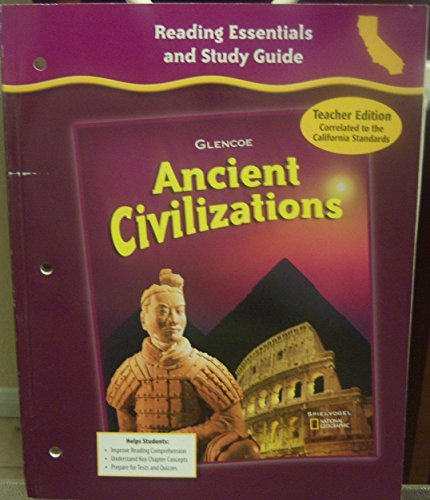 9780078703096: Glencoe Discovering Our Past - Ancient Civilizations, Grade 6 - Ca Teacher Edition: Reading Essentials and Study Guide
