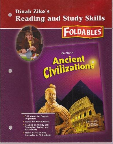 9780078703225: Dinah Zike's Reading and Study Skills - Foldables (Ancient Clivilizations - Glencoe Social Studies)