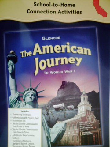 9780078703799: School-to-Home Connection Activities (GLENCOE The American Journey To World War I)