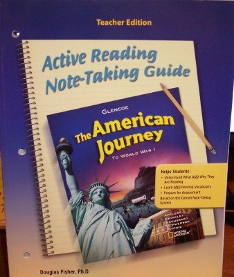 9780078703836: Active Reading Note-Taking Guide; Teacher Edition (The American Journey to World War 1)
