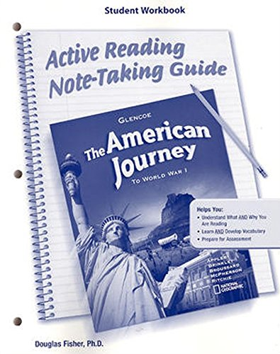 9780078703843: The American Journey To World War I, Active Reading Note-Taking Guide, Student Workbook (MS WH JAT BUILDING AMERICA)