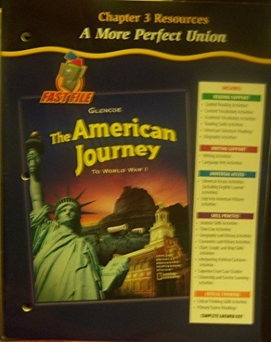 9780078704000: The American Journey to World War I: Chapter 3 Resources (A More Perfect Union)