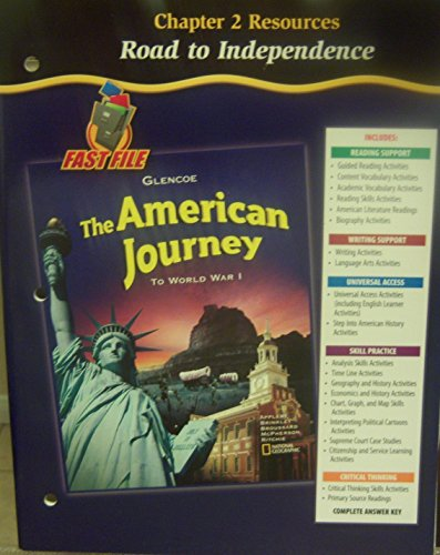 9780078704017: The American Journey to World War I: Chapter 2 Resources (Road to Independence)